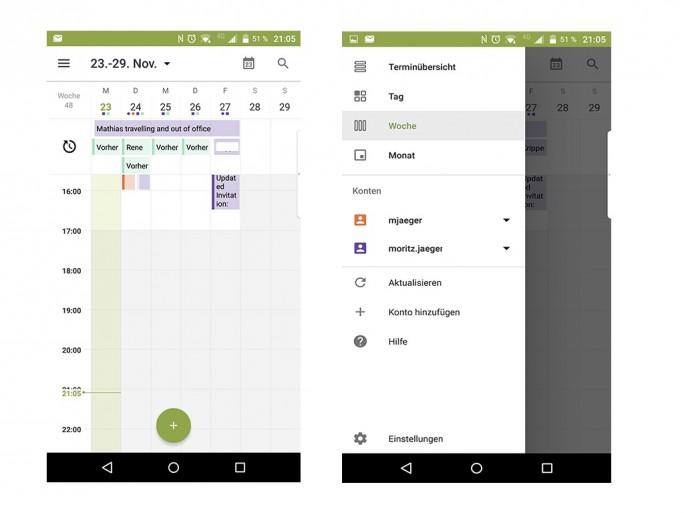 BlackBerry Priv: Kalender (Screenshot: Moritz Jäger)