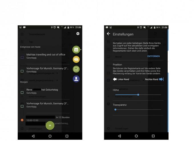 Blackberry Priv: Hub (Screenshot: Moritz Jäger)