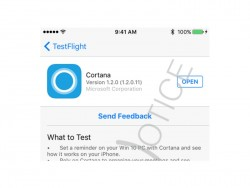 Cortana unter iOS (Screenshot: WareNotice)