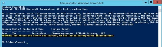 Die notwendigen Erweiterungen für Exchange Server 2016 installieren Administratoren am besten in der PowerShell (Screenshot: Thomas Joos).