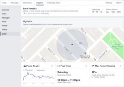 Facebook Local Insights informiert Ladengeschäfte anonymisiert über User in ihrer Umgebung (Bild: Facebook).