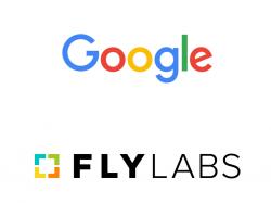 Logos von Google und Fly Labs (Bild: Google/Fly Labs)