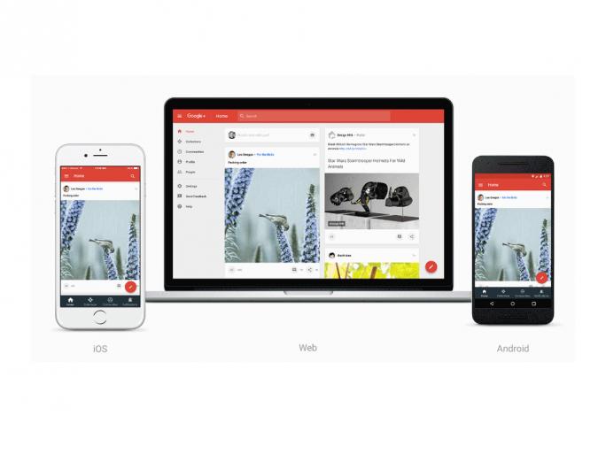 Das neue Google+-Design stellt Communities und Sammlungen in den Vordergrund (Bild: Google).