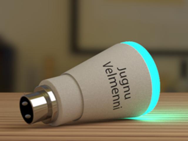Die LED-Lampe sorgt für Beleuchtung und drahtlose Datenübertragung (Bild: Velmenni).
