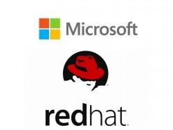 Partnerschaft Microsoft und Red Hat (Bilder: Microsoft und Red Hat)