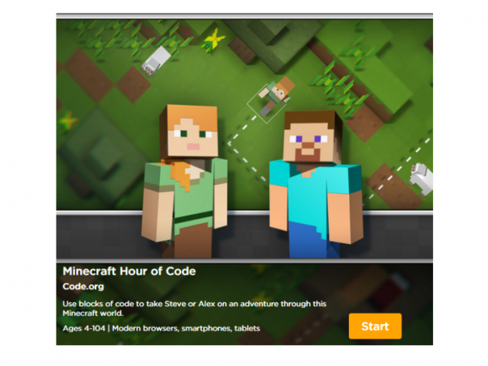 Minecraft Hour of Code (Bild: Code.org)