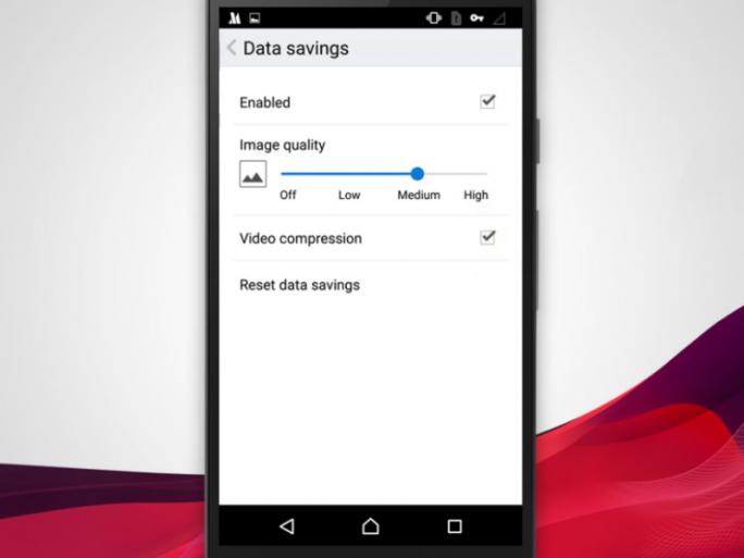 Die Videokomprimierung muss erst in den Einstellungen von Opera für Android aktiviert werden (Bild: Opera Software).