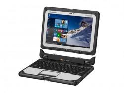 Das Toughbook CF-20 ist laut Hersteller das erste Full-Ruggedized-Notebook mit abnehmbarer Tastatur (Bild: Panasonic).