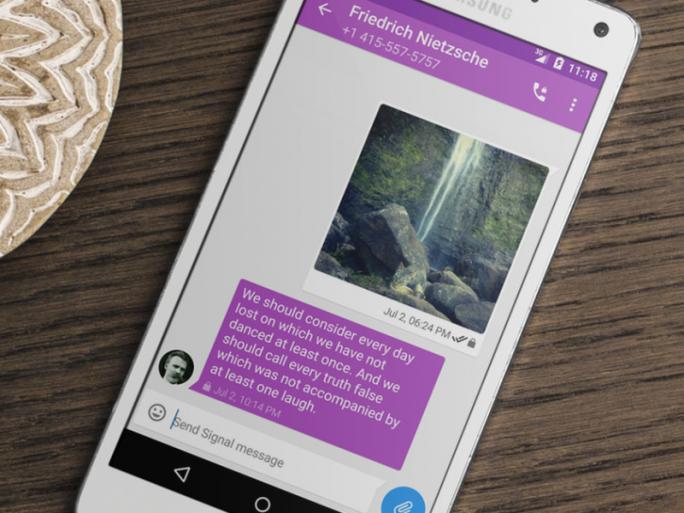 Die sichere Messaging-App Signal liegt ab sofort auch für Android vor (Bild: Open Whisper Systems).