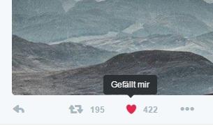 """""""Gefällt mir"""" bei Twitter (Screenshot: ZDNet.de)"""