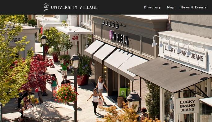 Amazons erster Buchladen befindet sich im Einkaufszentrum University Village in Seattle (Screenshot: ZDNet.de)