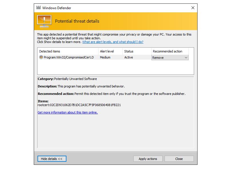 Windows Defender entfernt gefährliche Dell-Zertifikate   ZDNet.de