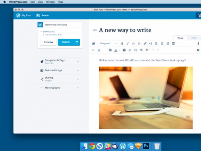 App für Mac OS X (Bild: WordPress.com)