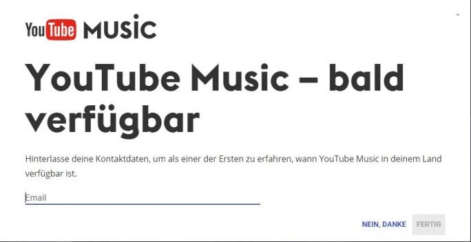 Youtube Music soll in Deutschland bald verfügbar sein (Screenshot: ZDNet.de)