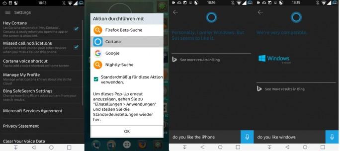 Cortana für Android (Bild: ZDNet.de)