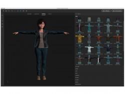 Kleidungswahl in Adobe Fuse (Screenshot: News.com)