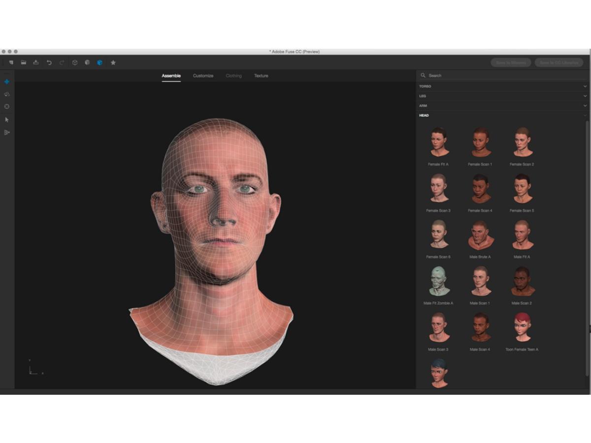 Adobe macht erste Preview von 3D-Avatar-Generator Fuse