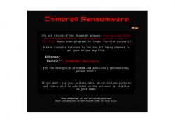Lösegeldforderung der Ransomware Chimera (Bild: Trend Micro)
