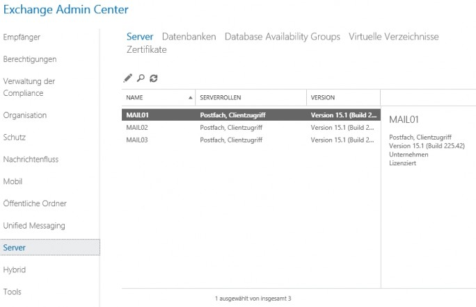 Exchange Server 2016 kann direkt in Exchange Organisationen mit Exchange Server 2010/2013 installiert werden (Screenshot: Thomas Joos).