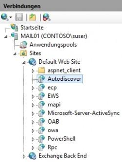 Die AutoDiscover-Funktion in Exchange 2016 muss intern und über das Internet funktionieren (Screenshot: Thomas Joos).