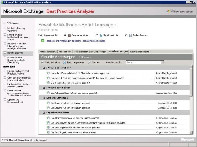 Bevor eine neue Exchange-Version in eine vorhandene Exchange-Organisation installiert wird, sollten Administratoren sicherstellen, dass die aktuellen Exchange-Server fehlerfrei und optimal funktioniert (Screenshot: Thomas Joos).
