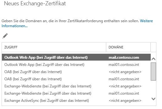 Die Zertifikate auf den neuen Exchange-Servern, müssen genauso funktionieren, wie auf den alten Exchange-Servern. Generell besteht die Möglichkeit die alten Exchange-Zertifikate weiter zu verwenden (Screenshot: Thomas Joos).