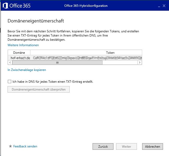 Die Domänenmitgliedschaft der E-Mail-Domänen wird durch den Assistenten überprüft (Screenshot: Thomas Joos).