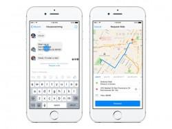 Uber-Fahrten lassen sich im Messenger buchen (Bild: Facebook).