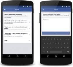 Meldung eines falschen Namens in der Facebook-App (Bild: Facebook)