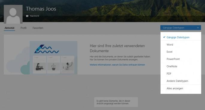 Mit Delve Organizational Analytics können Anwender ihre Produktivität steigern (Screenshot: Thomas Joos).