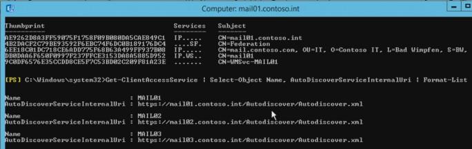 In der Exchange Management Shell lassen sich Administratoren die notwendigen Einträge für AutoDiscovery anzeigen (Screenshot: Thomas Joos).