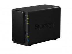 Die DiskStation DS216 nimmt bis zu zwei 8 TByte große SATA-Festplatten auf (Bild: Synology).