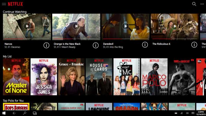 Netflix-App für Windows 10 (Bild: Netflix)