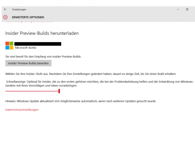 Windows 10 Build 11082 (Screenshot: ZDNet.de)