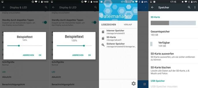 BQ Aquaris Cyanogen Edition: Oberfläche, SD-Card (Bild: ZDNet.de)