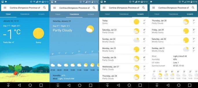 Google-Wetter-Anzeige (Screenshot: ZDNet.de)