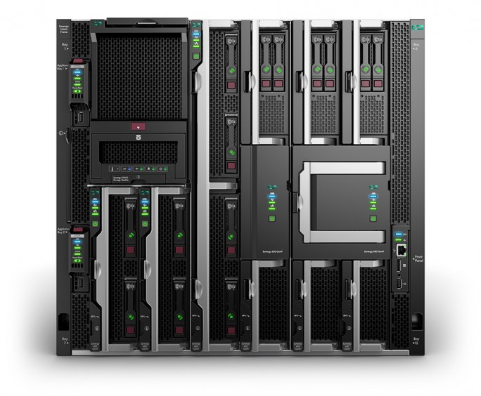 HPE Synergy with Composer, Storage Module, and 480, 660, 620, and 680 Compute Modules (Bild: HPE)