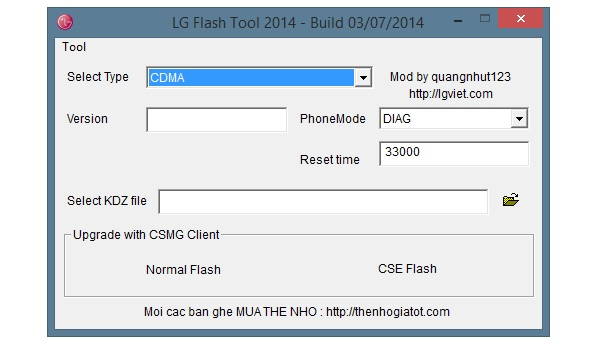 LG Flash Tool 2014 (Screenshot: ZDNet.de)