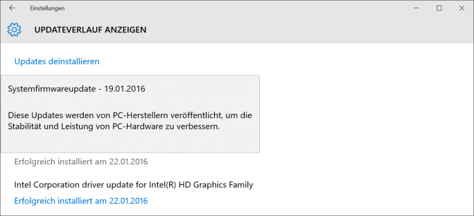 Firmware-Update für Surface Pro 3 (Screenshot: ZDNet.de)