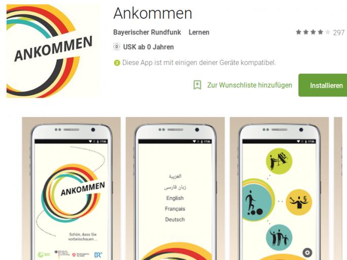 Ankommen-App für Android (Screenshot: ZDNet.de)