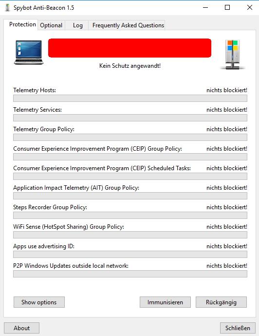 Die Hersteller des bekannten Tools Anti-Spybot bietet auch ein Tool für die Verbesserung des Datenschutzes in Windows 10 an (Screenshot: Thomas Joos).