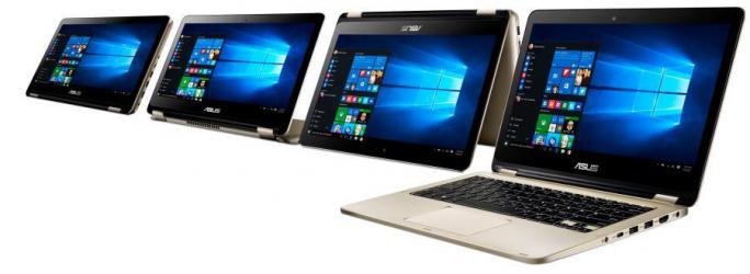 Das VivoBook Flip lässt sich als Notebook sowie im Tablet-, Zelt- und Standmodus verwenden (Bild: Asus).