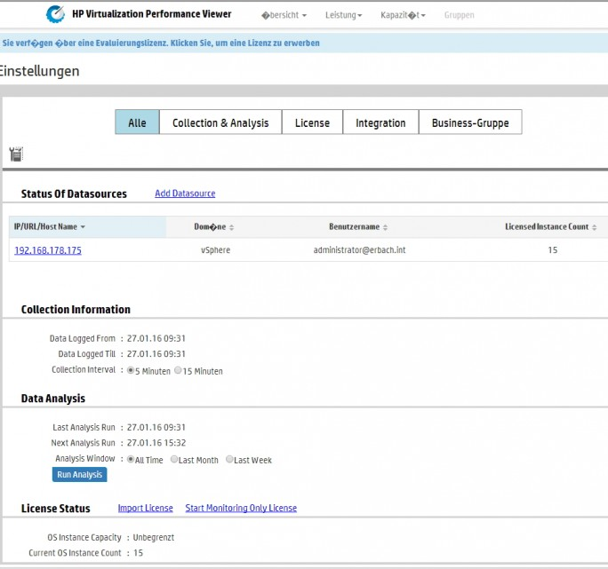 Bei der Planung der Server im Netzwerk, sollte auch die Überwachung der Virtualisierungs-Umgebung berücksichtigt werden (Screenshot: Thomas Joos).