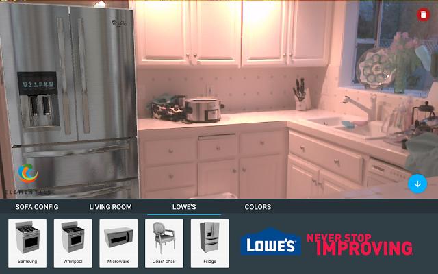 Kühlschrank-Kaufberatung mit Vermessung durch Project Tango (Bild: Google)