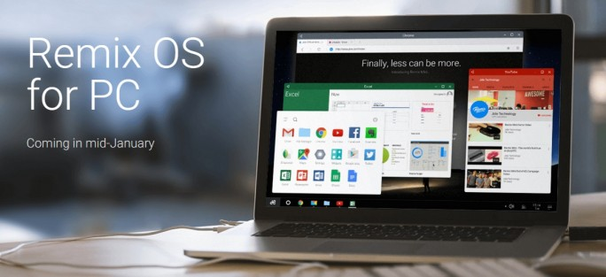 Notebook mit Remix OS (Screenshot: ZDNet.de)