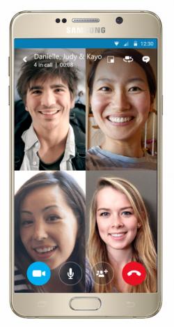 Demnächst sind auch unter Android, iOS und Windows 10 Mobile kostenlose Gruppenvideoanrufe via Skype möglich (Bild: Microsoft).