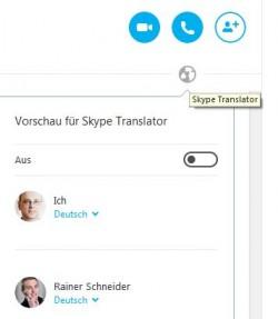 Ein Klick auf das Weltkugelsymbol öffnet die Übersetzungsoptionen (Screenshot: ITespresso.de).