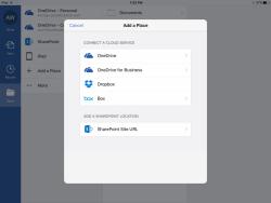 Speicheroptionen in Office für iOS (Bild: Microsoft)