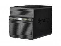 Die DiskStation DS416j nimmt bis zu vier 8 TByte große SATA-Festplatten auf (Bild: Synology).