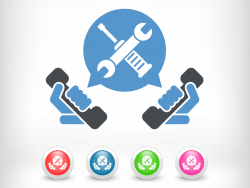 Technischer Support (Grafik: Shutterstock/Myvector)
